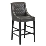 Sunpan Modern 5West Malabar 29.5'' Bar Stool with Cushion; Grey
