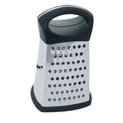 Home Basics 4 Sided Stainless Steel Cheese Grater; Black