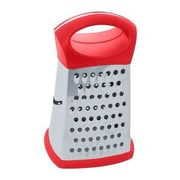 Home Basics 4 Sided Stainless Steel Cheese Grater; Red
