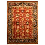 Eastern Rugs Super Mahal Hand-Knotted Red Area Rug; 3' x 5'