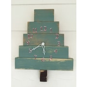essex hand crafted wood products Christmas Tree Clock