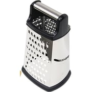 Home Basics 4 Side Metal Handle Cheese Grater; Black