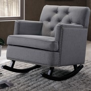 Wholesale Interiors Baxton Studio Rocking Chair; Gray