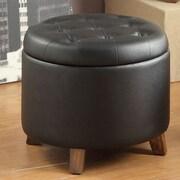 Poundex Storage Ottoman; Black