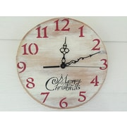 essex hand crafted wood products 11'' Merry Christmas Clock