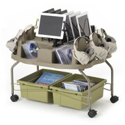 Copernicus Rolling Media Pod AV Cart with Detachable iPad Clamp