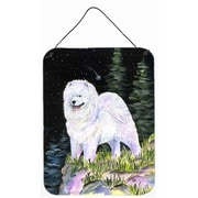 Caroline's Treasures Starry Night Samoyed Aluminum Hanging Painting Print Plaque