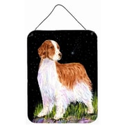 Caroline's Treasures Starry Night Welsh Springer Spaniel by Suzanne Staines Painting Print Plaque