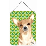 Caroline's Treasures Chihuahua St Patrick'S Day Aluminum Hanging Painting Print Plaque