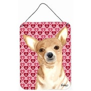 Caroline's Treasures Chihuahua Love and Hearts Aluminum Hanging Painting Print Plaque