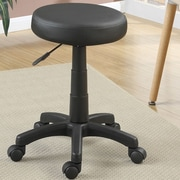 Poundex Height Adjustable Round Stool