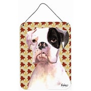 Caroline's Treasures Cooper Fall Leaves Boxer Aluminum Hanging Painting Print Plaque