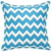 Greendale Home Fashions Chevron Cotton Canvas Throw Pillow; Turquoise