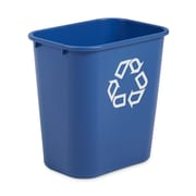 Rubbermaid® 2956-73 Deskside Recycling Container With Recycle Symbol, Medium, 28 1/8 qt