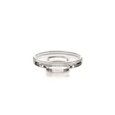 WS Bath Collections Picola Single Holder w/ Soap Dish; Clear