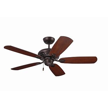 Emerson Fans 52'' Transitional Avondale 5 Blade Ceiling Fan; Venetian Bronze w/Dark Mahogany Blades