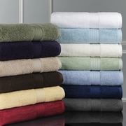 Luxor Linens Bliss Egyptian Cotton Luxury 12 Piece Towel Set; White