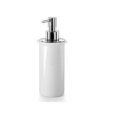 WS Bath Collections Muci Soap Dispenser; Polished Chrome / Ceramic White