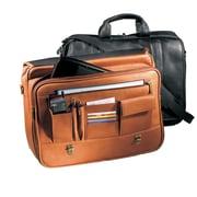 Andrew Philips Vaqueta Napa Statesman Leather Laptop Briefcase; Black