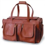 Clava Leather Vachetta 19'' Leather Travel Duffel; Tan