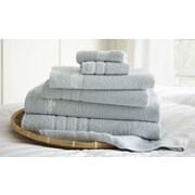 Amrapur La Boheme Paris Embroidered Egyptian Cotton 6 Piece Towel Set; Ice Blue