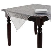Saro Crushed Tissue Tablecloth; Grey