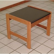 Wooden Mallet Dakota Wave End Table; Light Oak