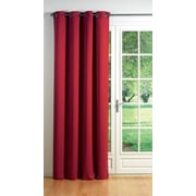 Evideco Cocoon Blackout Thermal Single Curtain Panel; Red