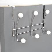 Evideco Over-the-Door 6-Hook Rack; White