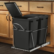 Rev-A-Shelf Double 8.75 Gallon Roll Out Waste Container; Black