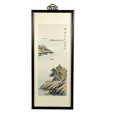 Oriental Furniture Zen Retreat Oriental Watercolor Framed Original Painting