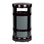Rubbermaid Commercial Products 17-Gal Architek Radius Top Waste Receptacle; Black/Anthracite