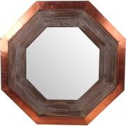 Privilege Wood & Copper Hexagon Wall Mirror