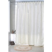 Evideco Vertical Stripes Shower Curtain; Beige
