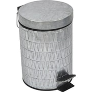 Evideco Retro 0.8-Gal. Galvanized Metal Round Toilet Step Trash Can