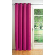 Evideco Cocoon Blackout Thermal Single Curtain Panel; Fuchsia