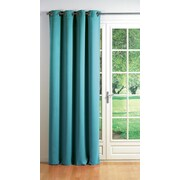 Evideco Cocoon Blackout Thermal Single Curtain Panel; Turquoise Blue