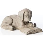 Alfresco Home Reading Puppy Statue
