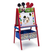 Delta Children Mickey Mouse Wooden Double Sided Activity Easel with Storage