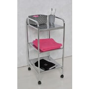 Evideco Three Tier Utility Storage Rolling Cart