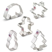 Ann Clark Cookie Cutters Christmas 5 Piece Cookie Cutter Set