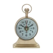 Woodland Imports Table Clock; Gold