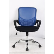 Hodedah Mid Back Mesh Office Chair; Blue