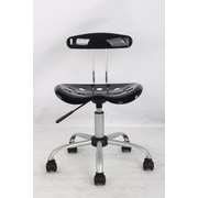 Hodedah Mid Back Task Chair; Black