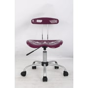 Hodedah Mid Back Task Chair; Purple
