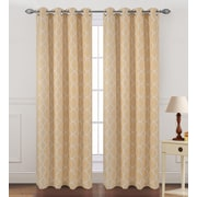 Popular Bath Products Kimberly Single Curtain Panel; Gold