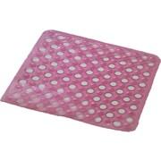 Evideco Non Skid Square Bath Mat; Fuchsia