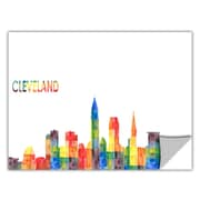 ArtWall ArtApeelz 'Cleveland' by Revolver Ocelot Graphic Art Removable Wall Decal; 12'' H x 24'' W