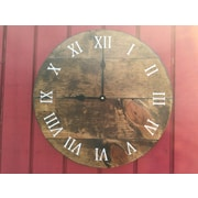 essex hand crafted wood products 14'' Stain Wood Wall Hanging Clock