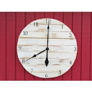 essex hand crafted wood products Oversized 24'' Westcliff Painted Wood Wall Hanging Clock